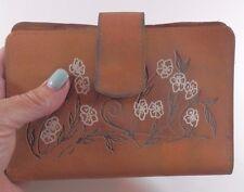 "Vintage 1970's Leather Passport Wallet Clutch Card Holder, Coins,  6.5"" x 4.5"""