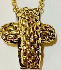 18K Yellow and White Gold Fope Cross
