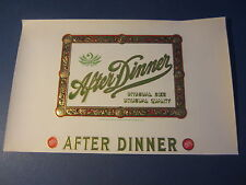 Original Old Antique - After Dinner - Inner Cigar Label