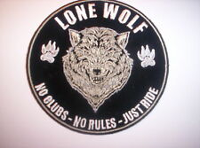 "Aus  USA "" LONE WOLF NO CLUBS  NO RULES  -JUST RIDE  ca 10 cm"