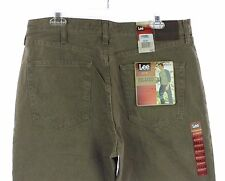 NWT Men's LEE Tarmac Tan Relaxed Fit Slightly Tapered Leg Denim Jeans 36 X 32