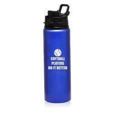 25oz Aluminum Sports Water Bottle Travel Canteen Do It Better Softball