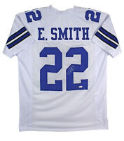 Emmitt Smith Authentic Signed White Pro Style Jersey Autographed BAS Witnessed