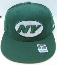 New York Jets Fitted Reebok Flatbrim Green 100% Wool Cap Hat - Brand NEW