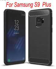 Samsung Galaxy S9 plus Case Cover Shockproof Hybrid Carbon Fibber Textured Armor