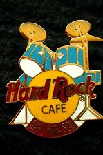 HRC Hard Rock Cafe San Francisco Blue Drum Set Yellow Logo