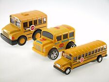 School Bus 3pcs Boy Gift Toy (Chubby Light up, Regular, 360 degrees spinning)