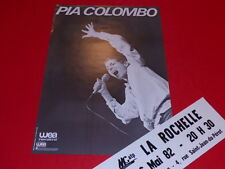 COLL.J. LE BOURHIS AFFICHE Spectacle / PIA COLOMBO 1982 La Rochelle Rare!