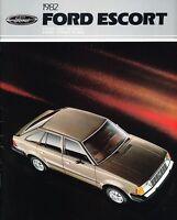 1982 Ford Escort 24-page Original Car Dealer Sales Brochure Catalog