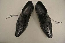 HUGO BOSS  Chaussures cuir noir vernis taille 41  très chic Ref : N04