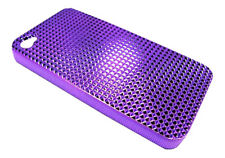Púrpura ultra ligero duro Funda Piel Para Apple Iphone 4 4g 4s Diamante Bling