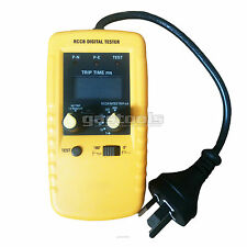 NEW PRO ELECTRICIANS DIGITAL RCD TESTER CAT3 CE