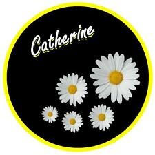 YELLOW, BLACK & DAISY - PERSONALISED CAR TAX DISC HOLDER - NAME - REUSABLE - NEW