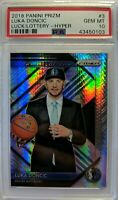2018-19 Panini Prizm Hyper Luck of the Lottery Luka Doncic RC #3, PSA 10, Pop 7!
