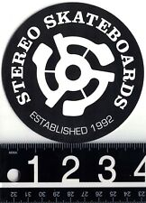 """STEREO SKATEBOARDS STICKER Stereo Skateboards 4"""" Round Sticker Stereo Skate"""