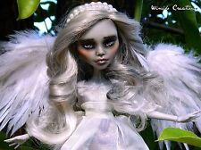 OOAK Custom Monster High Ghoulia Repaint Weeping Angel Clothed Doll