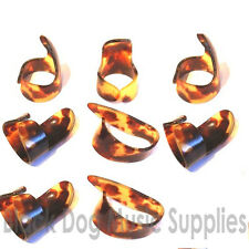 6x plastic  Finger  2x Thumb picks for Guitar  or banjo pick set