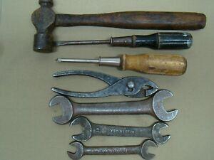 vintage tool kit w/ reproduction tool bag vintage tool roll old tool set antique