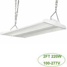 2Ft 220W Led Linear High Bay Shop Light, Led Warehouse Highbay Light Dlc Ul