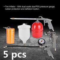 5Pcs Air Compressor Parts Spray Gun Inflator Air Blow Gun Hose Spray Paint Clean