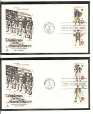 US SC # 1565-1568 United States Armed Forces FDC. Artcraft cachet