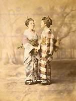 VINTAGE PHOTO WATERCOLOUR PORTRAIT GEISHA JAPAN NEW ART PRINT POSTER CC5454
