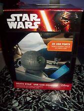 Offcial con licencia Star Wars Estrella De La Muerte USB cargador de coche de Disney Nuevo Sellado