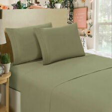 🙂1800 Count 4 Piece Deep Pocket Bed Sheet Set Egyptian Comfort-King,Sage Green