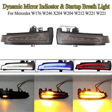 L+R Dynamic LED Side Mirrors Turn Signal Light For Mercedes W204 W212 W221