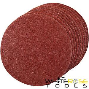 Silverline Sanding Discs Hook & Loop 10 Pack 125-300mm 60-400 Grit Sand Paper
