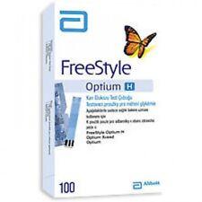 Abbott FreeStyle Optium H 100 Blood Glucose Test Strips Exp June'2019