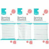 Sewing Elastics Multi Pack White Dress Making Elastic Tailoring Repair Textile