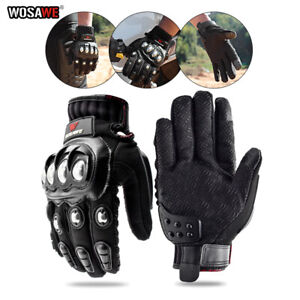 Mens Motorbike Motorcycle Gloves Knuckle Protection Pad Cycling Glove Anti-skid