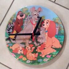 "DISNEY* LADY & THE TRAMP-12"" PICTURE DISC CLOCK--GREAT GIFT!*FREE SHIPPING!!-"