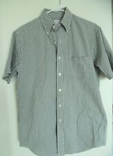 Brooks Brothers The Original Polo Shirt Men Green/white  Plaid Up Casual Shirt S