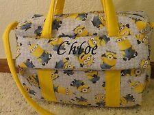 Minions custom Emijane handmade Diaper Bag w/chg pad FREE Embroidery
