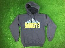 Denver Nuggets Nba Basketball Hoodie Hooded Sweater Sz S Long Sleeve Mens