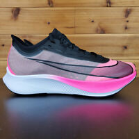 Nike Zoom Fly 3 Pink Blast Black Grey VaporWeave Mens Running Shoes AT8240-600