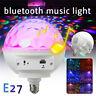 E27 LED RGB bluetooth Speaker Bulb Rotating Crystal Ball DJ Disco KTV Stage Lamp