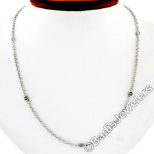 """Charriol 18K Gold Illusion Diamond & Logo By the Yard 18"""" Cable Chain Necklace"""