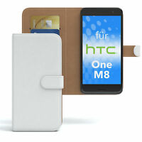 Tasche für HTC One M8 Case Wallet Schutz Hülle Cover Weiß