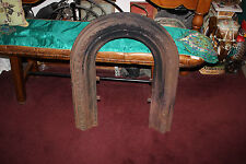 Antique Victorian Iron Metal Fireplace Surround-Flower Scroll Work-Architectural