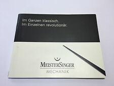 Booklets - MEISTERSINGER Mechanik - Im Ganzen Klassisch - ENG & DE - Watches