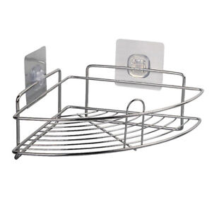 Triangle Storage Caddy for Bathroom Shower Rack Wall Corner Shelf Holder