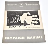 1960 the Hand Derek Bond, Reed De Rouen, Bryan Colema Crime Pressbook
