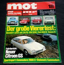 MOT 18/70 Citroen GS, VW 1200, Renault 4, Citroen Dyane 6, Steinmetz-Commodore