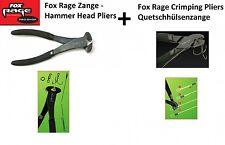 2 Fox Rage Zangen für Stahlvorfächer (Klemmhülsenzange + Seitenschneider)