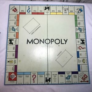 1961 Monopoly part pieces replacement Game Board only