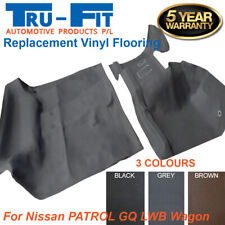 Suits Nissan Patrol GQ Y60 LWB Wagon Front & Rear Moulded Vinyl Floor