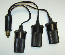 TRUCK VAN HELLA PLUG TO THREE STD SOCKET Y ADAPTOR LEAD